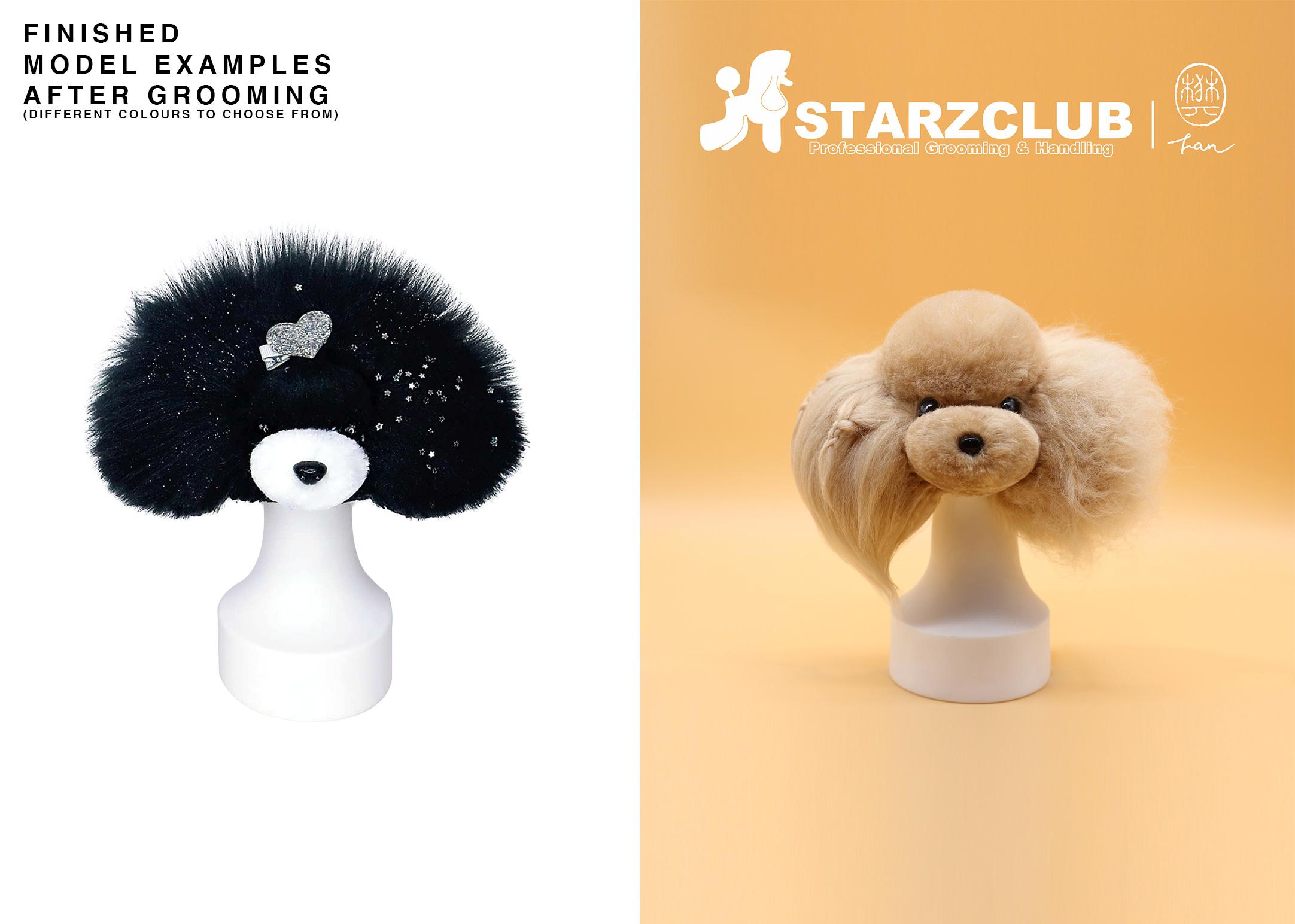 Starzclub White Coat for Model Dog Head