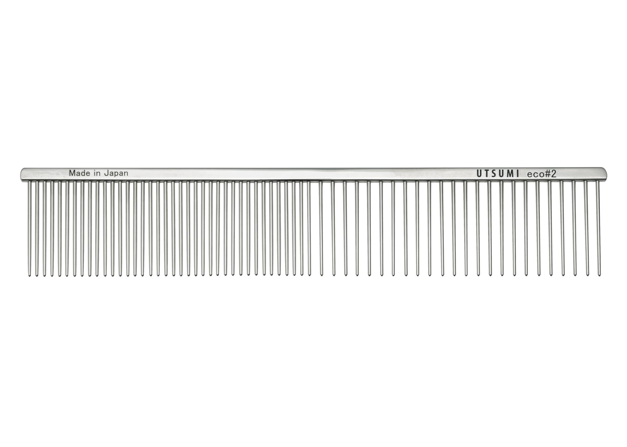 Utsumi Eco#2 Kam Zilver 25cm 4cm lange Tanden Kam
