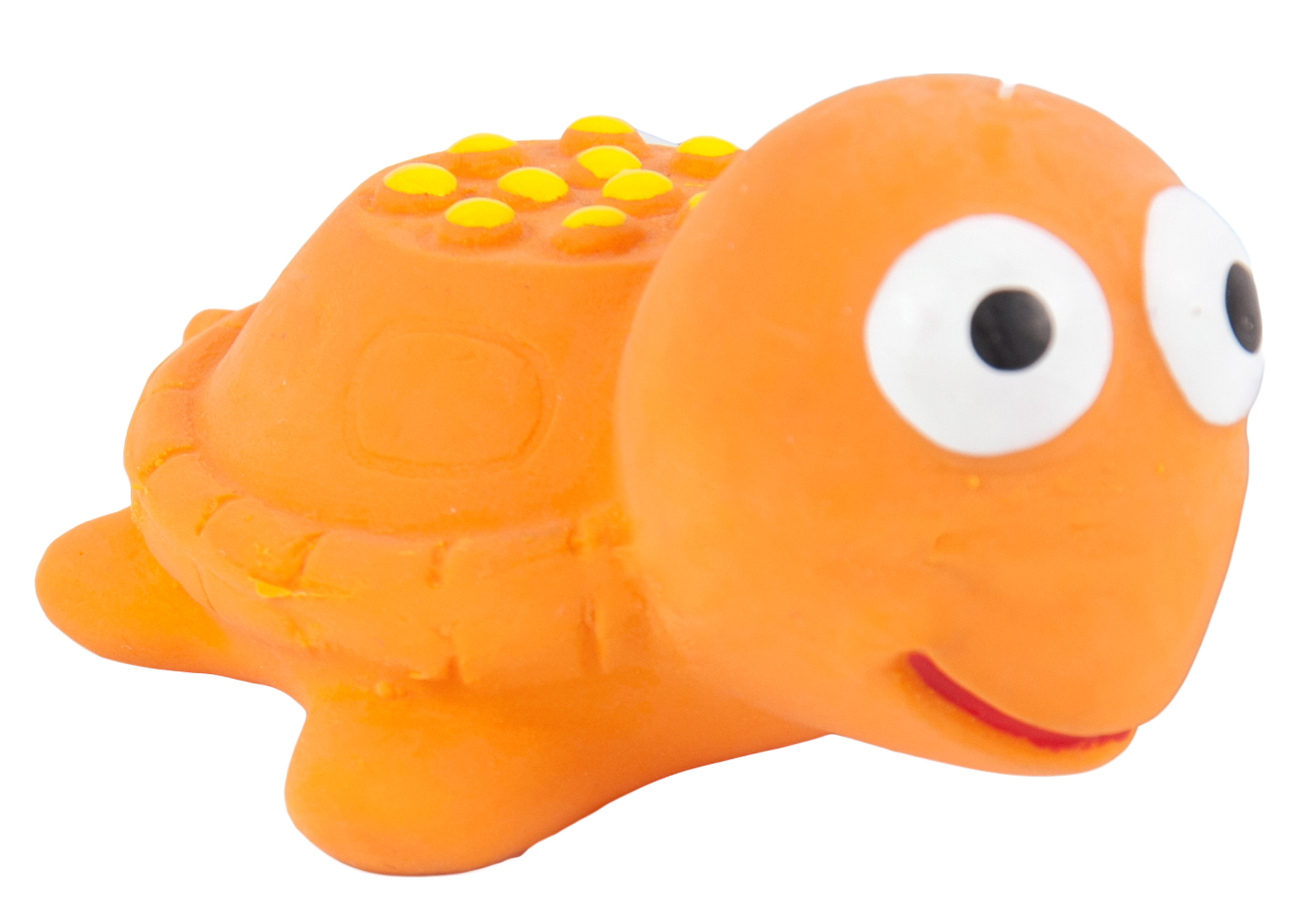 Chuckle City Squeaky Latex Turtle 5,5cm Orange Toys