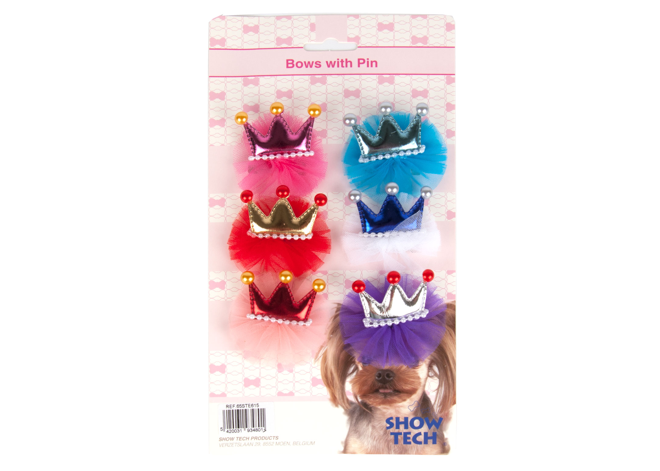 Show Tech Royal Deluxe Bows with Clip 6 pcs Bows