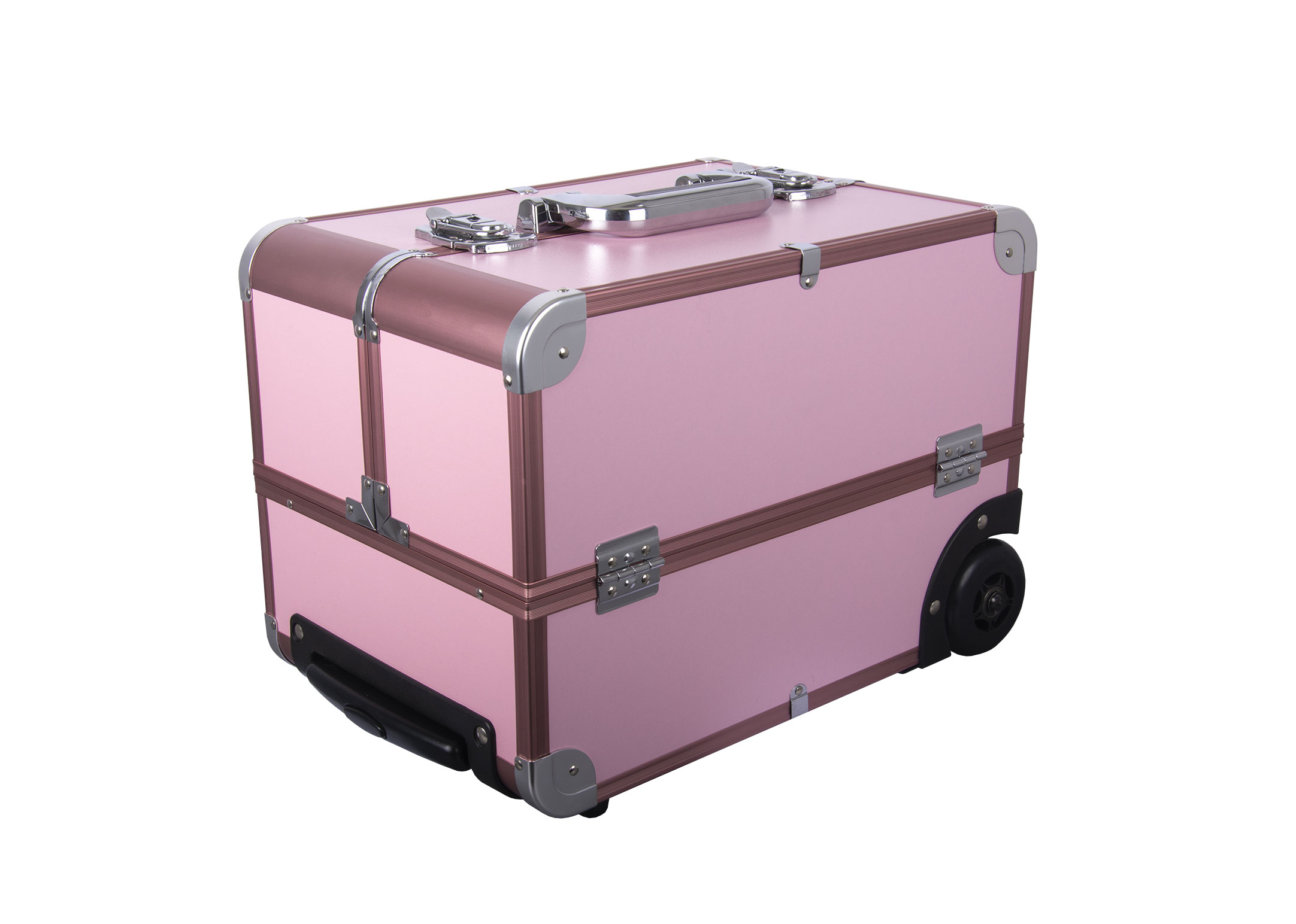 Groom-X Grooming Case Pink Deluxe Portable with wheels - Pink