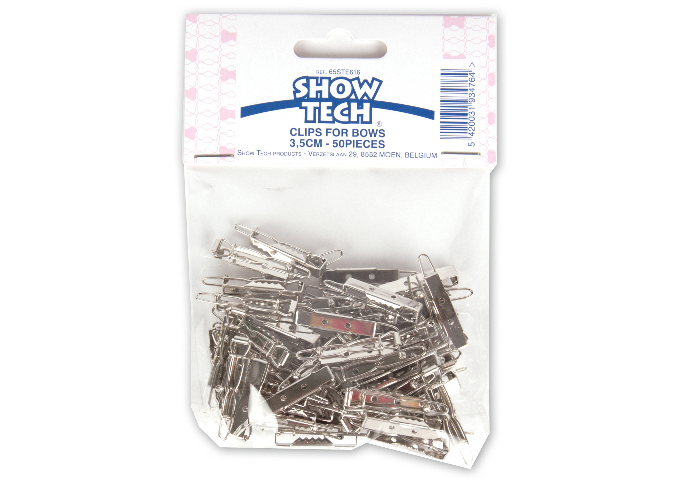 Show Tech Clips for Bows 3,5cm 50 pcs