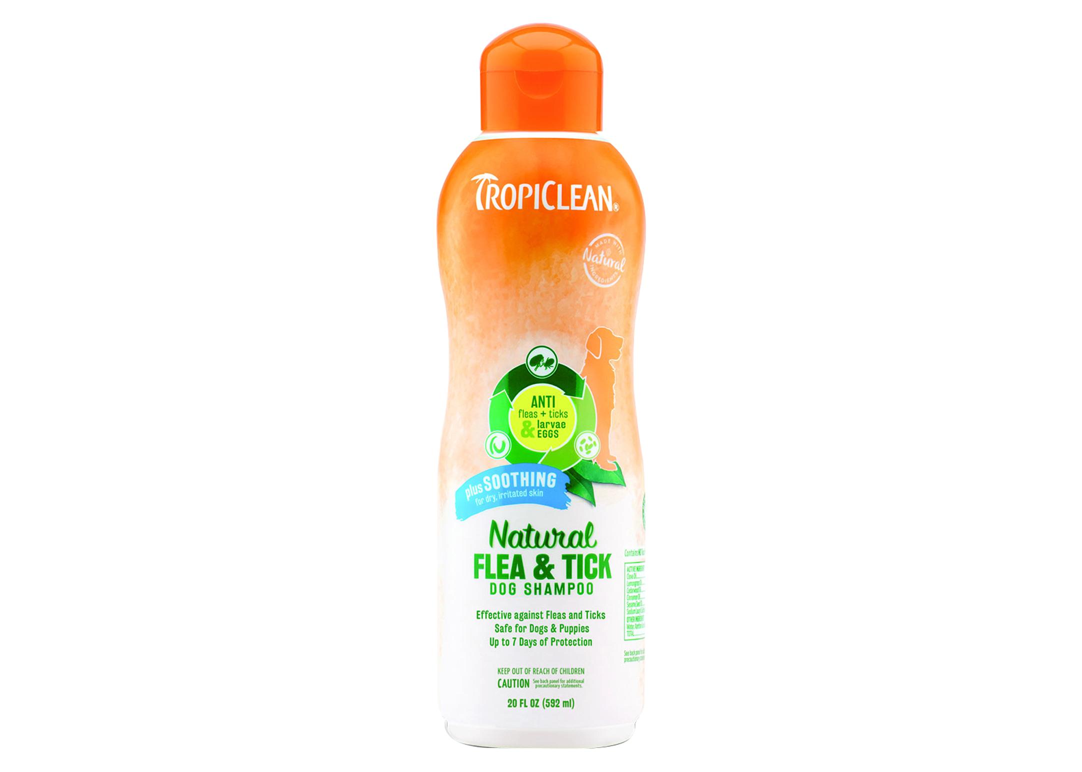 Tropiclean Natural Flea & Tick Shampoo Plus Soothing 592ml