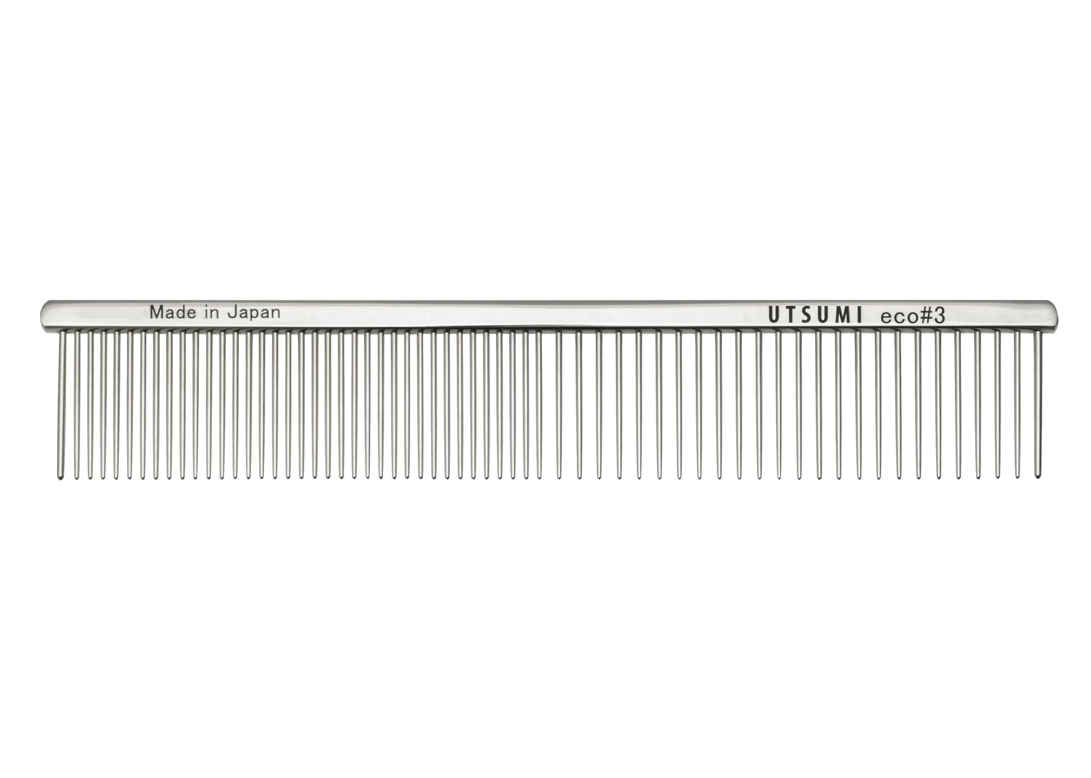 Utsumi Eco#3 Kam Zilver 19cm, 3cm lange Tanden Kam