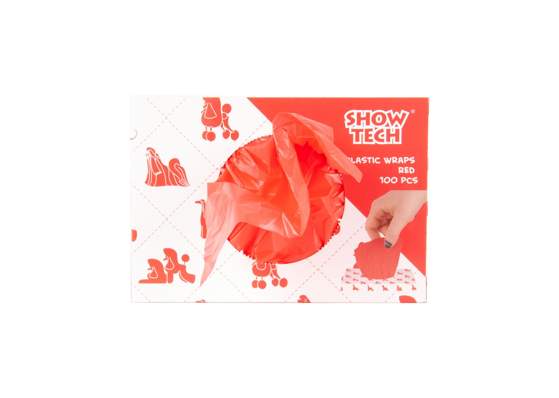 Show Tech Plastic Wraps Red (15x30cm)-100 pcs Wraps