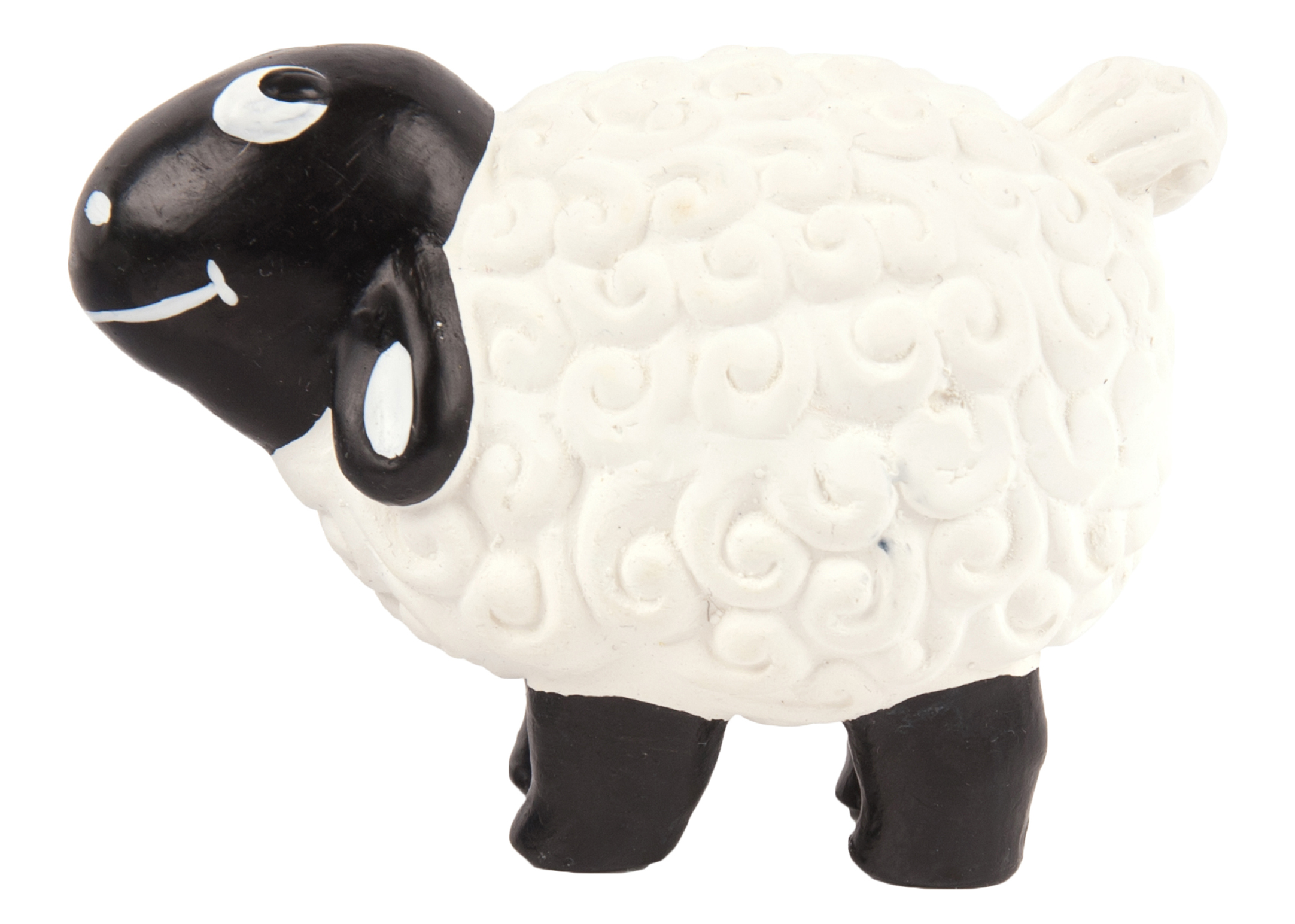 Chuckle City Squeaky Latex Sheep 9cm Black/White Toys