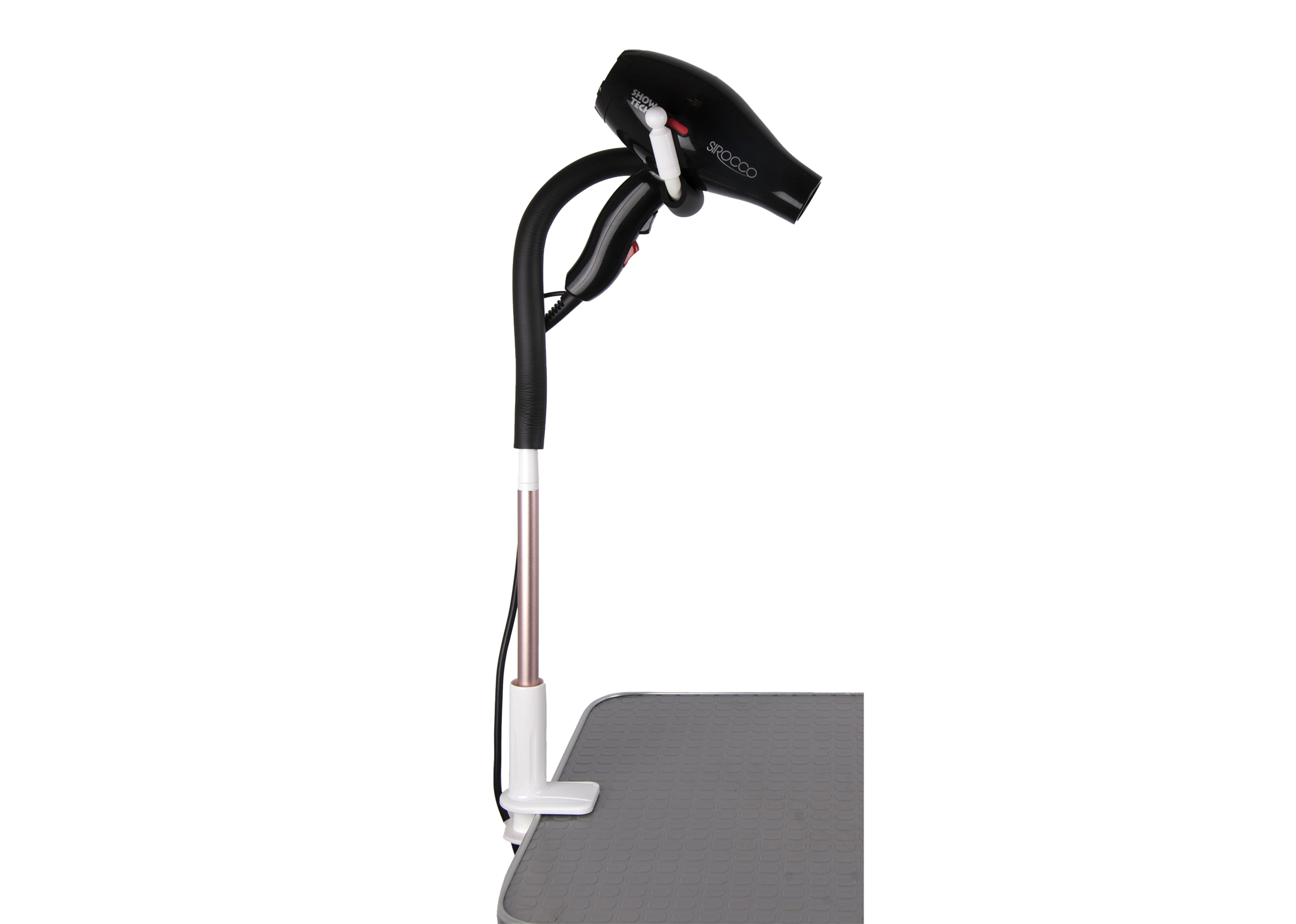 Show Tech Hands-Free Holder for Dryers with clamp