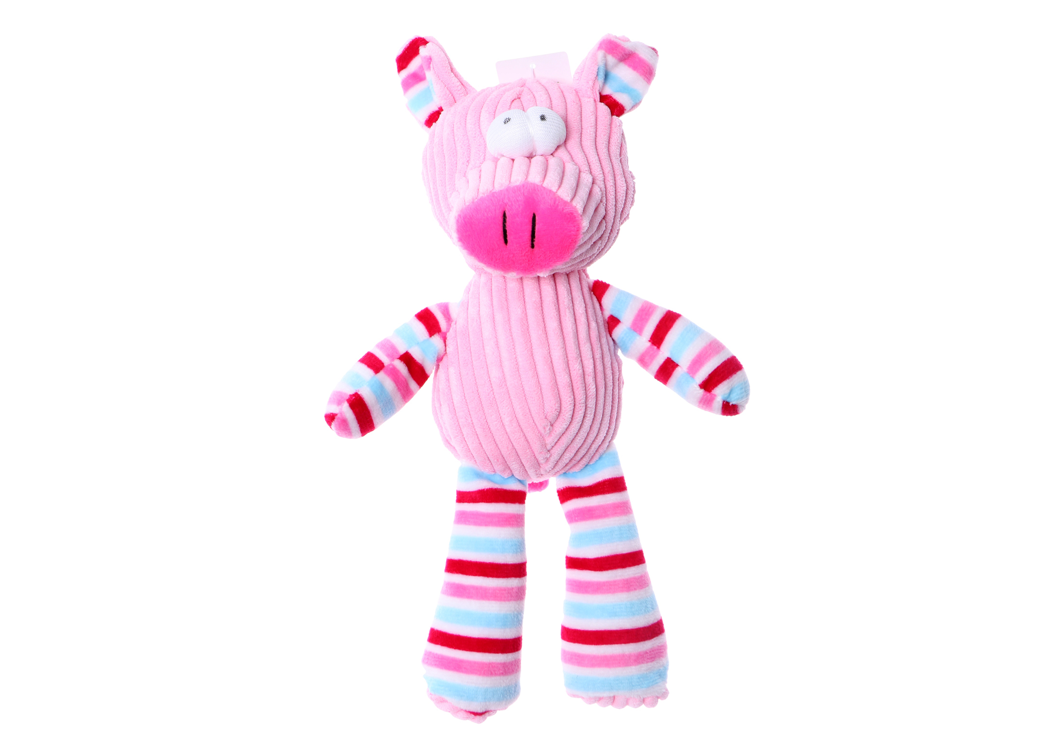 Chuckle City Plush Toy with Squeaker Pig 25 cm