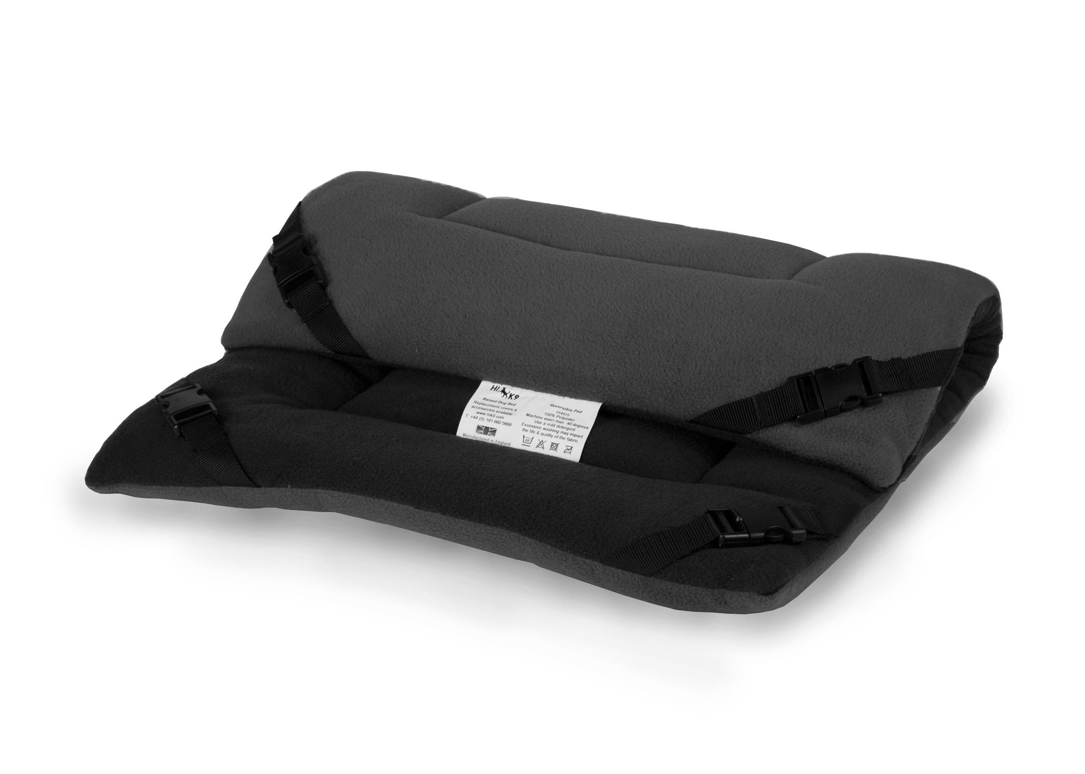 Hi-K9 Reversible Pad Black-Grey Bed