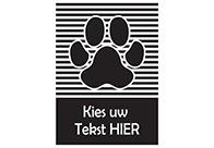 K-design Stripes Paw 58,4 x 81 cm Sticker For Groomers