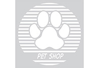 K-design Stripes Paw Circle 58,4 x 58,4 cm Sticker For Groomers
