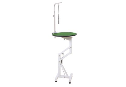 GroomX Compact Air Lift Grooming Table Round dia60x80120cmh