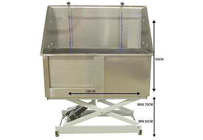 Groom X Walk In Tub Electric Inox Bath For Dogs And Cats
