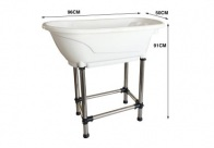 Show Tech Handy Tub M 96x50x91cm White Bath For Dogs And Cats