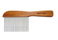 Show Tech Flat Wooden Comb  Rosewood Extra Long Comb For Dogs