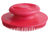 Show Tech Rubber Brush Round For Dogs