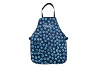 Wahl Apron with Paw Print Black/Blue Paws Apron For Groomers