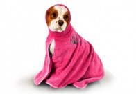 Show Tech Dry Dude Hot Pink Pet Towel For Dogs And Cats