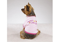 Casual Canine Daddy's Lil Girl Tee Pink XL 50-60cm Attire For Dogs