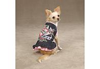 East Side Collection I Love U Denim Dress Attire For Dogs