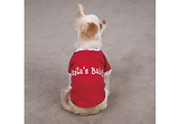 East Side Collection Xmas Santa's Babie Onesie Shirt Attire For Dogs