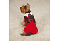 East Side Collection Xmas Yuletide Tartan Jumper Red XXS - 20cm Attire For Dogs