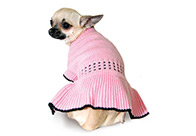 Max+Co Knitted Pink-Black Attire For Dogs