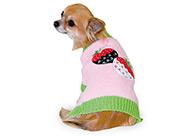 Max+Co Sweater Strawberry Pink-Green  Attire For Dogs