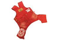 Max+Co Jeans Overall Red Attire For Dogs