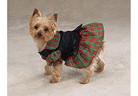 Zack & Zoe Xmas Tartan Holiday Dress Attire For Dogs