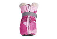 Zack & Zoe Camo Oxford Boots Pink L Attire For Dogs