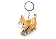 Kat Cat Brown - White Spots Keyring For Groomers
