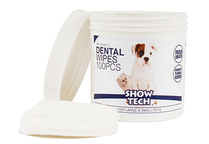 Show Tech Dental Wipes 100 pcs Teeth Cleaning Product For Dogs ...