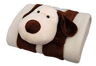 Snuggle Zone Blanket Fleece Dog Beige 132x97 cm