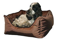 Snuggle Zone Waterproof Bed Brown Bed For Dogs And Cats