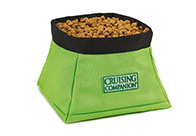 Cruising Companion Travel Bowl Lime Bowl For Dogs