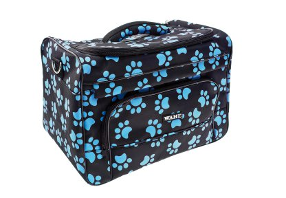 Wahl Groomers Pawprint Bag Black Blue Paws Travel Case