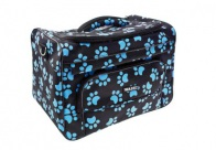 Wahl Groomers Pawprint Bag Black-Blue Paws Travel Case For Groomers