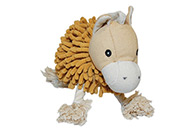 Chuckle City Plush Spiked Haired Horse Toy 20 cm Toys For Dogs