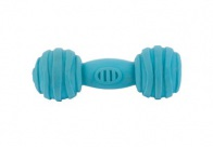 Chuckle City Squeaky Latex Dumbell 14cm Blue Toys