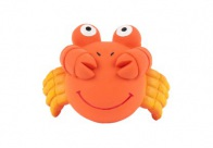Chuckle City Squeaky Latex Crab 8cm Orange Toys For Dogs