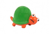 Chuckle City Squeaky Latex Turtle 7cm Orange/Green Toys For Dogs