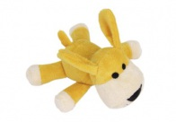 Chuckle City Plush Toy with Squeaker Dog Mixed Colours 15 cm