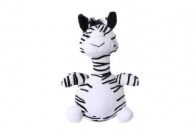 Chuckle City Plush Toy with Squeaker Zebra 20 cm