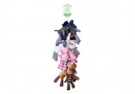 Chuckle City Farm Strip Plush Toy with Squeaker 25 cm - 12 pieces