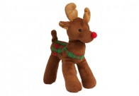 Griggles Xmas Radiant Tartan Reindeer Dark Brown 23cm Toys For Dogs
