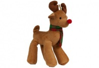 Griggles Xmas Radiant Tartan Reindeer Light Brown 23cm Toys For Dogs