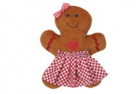 Griggles Xmas Gingham Gingerbread Toy Girl 18cm Toys For Dogs