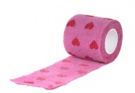 Show Tech Self-Cling Bandage Pink with Hearts 7,5cmx4,5M Bandage For Dogs
