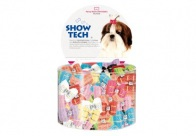 Show Tech Fancy Bows with Elastic 50 pcs Bows For Dogs
